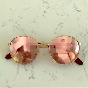 Ray-Ban pink mirror round sunglasses